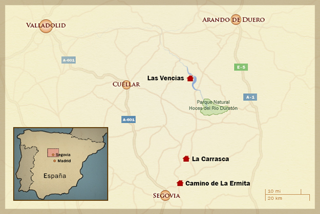 Spanish Villas in the heart of Spain Segovia Large villas for